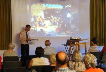 Paul von Franken … Ur-Ur-Ur-Enkel Kacha Ebralidze referierte Interessantes über seinen berühmten Vorfahren. (Foto: Gemeinde Wachtberg/mm)