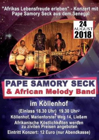 "Pape Samory Seck mit der Band ""African Melody""  (Plakat)"